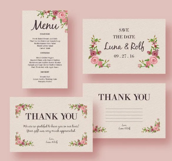 37+ Wedding Menu Template \u2013 Free Sample, Example, Format Download - menu templates free microsoft