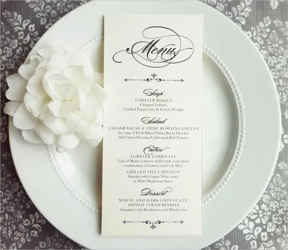 29+ Wedding Menu Template u2013 Free Sample, Example, Format Download - sample drink menu template