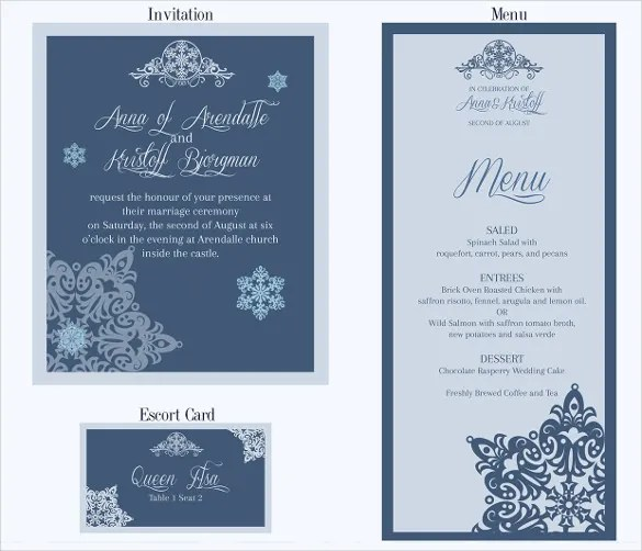 Wedding Menu Templates Free  Wedding Menu Card Templates Free