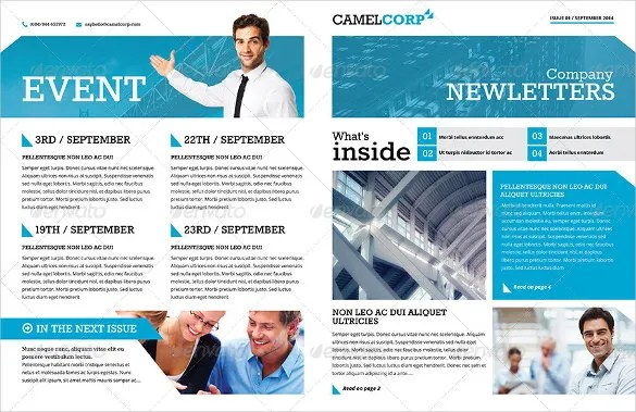 20+ Word Newsletter Templates Free Download Free \ Premium Templates - company newsletter template free
