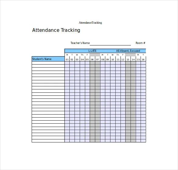 student attendance tracker