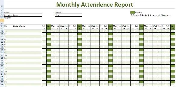 attendance sample - Ozilalmanoof