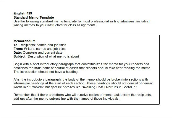 Formal Memorandum Template\u2013 8+ Free Word, Excel,PDF Documents