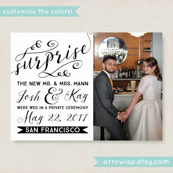 21+ Wedding Announcement Templates u2013 Free Sample, Example, Format - wedding announcement template