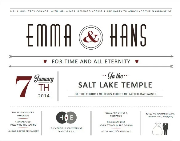 21+ Wedding Announcement Templates \u2013 Free Sample, Example, Format
