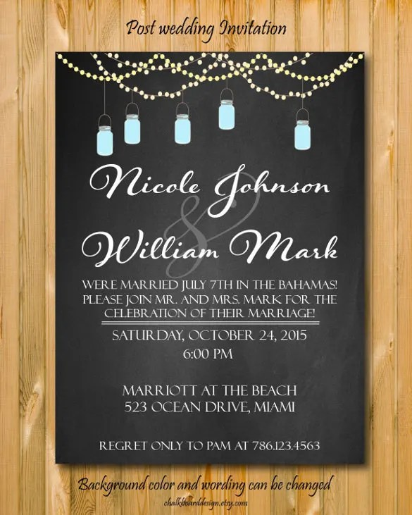 21+ Wedding Announcement Templates \u2013 Free Sample, Example, Format - publisher wedding invitation templates