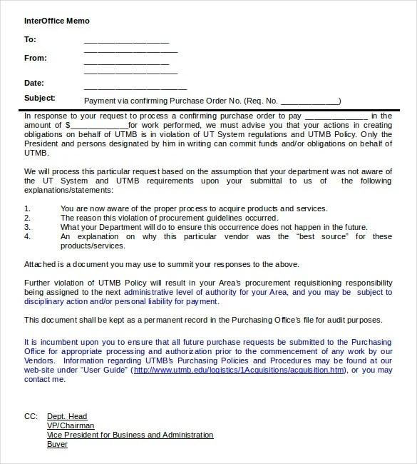 Interoffice Memo Template - 13 Free Word, PDF Documents Download - interoffice memo format