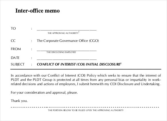 Interoffice Memo Template - 13 Free Word, PDF Documents Download