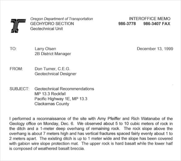 Interoffice Memo Template - 13+ Word, PDF, Google Docs Documents