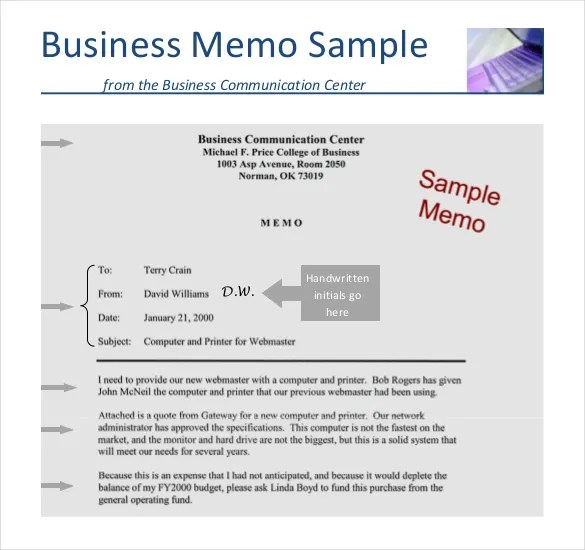 Business Memo Template - 18+ Free Word, PDF Documents Download - Sample Business Memo