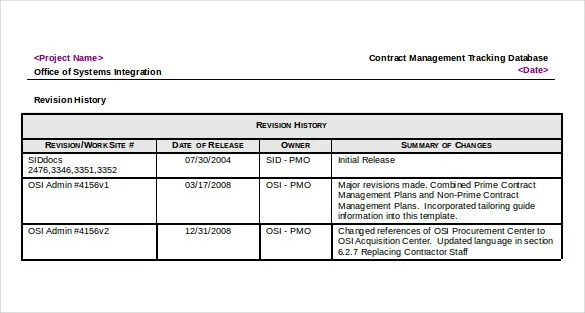 10+ Contract Tracking Templates u2013 Free Sample, Example Format - contract summary template