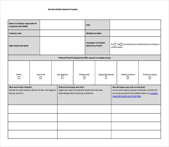 method statement template free | node2004-resume-template ...