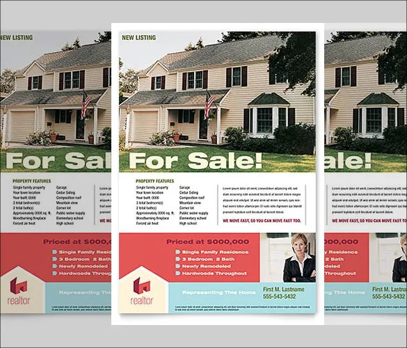 33+ Free Download Real Estate Flyer Template in Microsoft Word - home sale flyer template