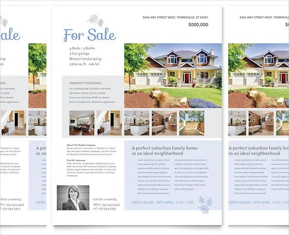 33+ Free Download Real Estate Flyer Template in Microsoft Word - house for sale flyer template