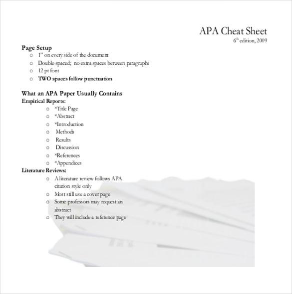 12+ APA Cover Sheet Templates \u2013 Free Sample, Example, Format