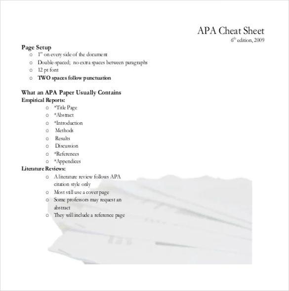 apa sample page