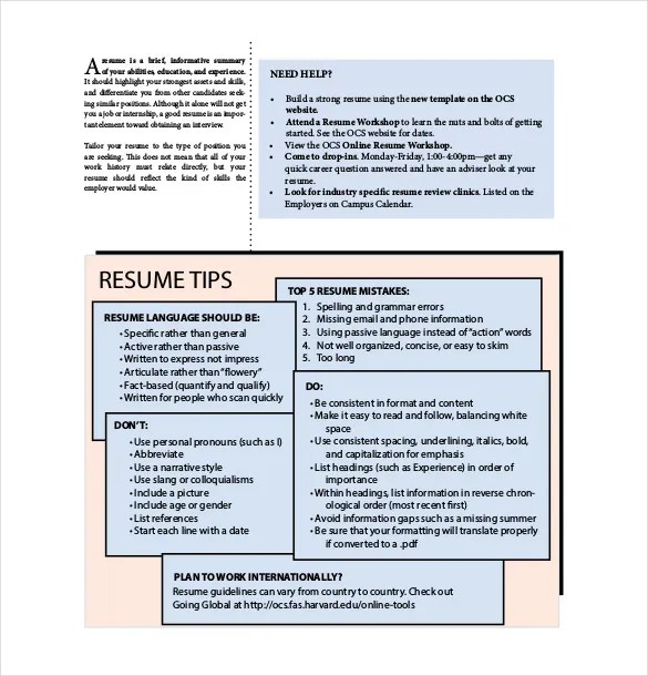 12+ Resume Cover Sheet Templates \u2013 Free Sample, Example, Format