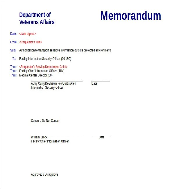 Download Memo Template