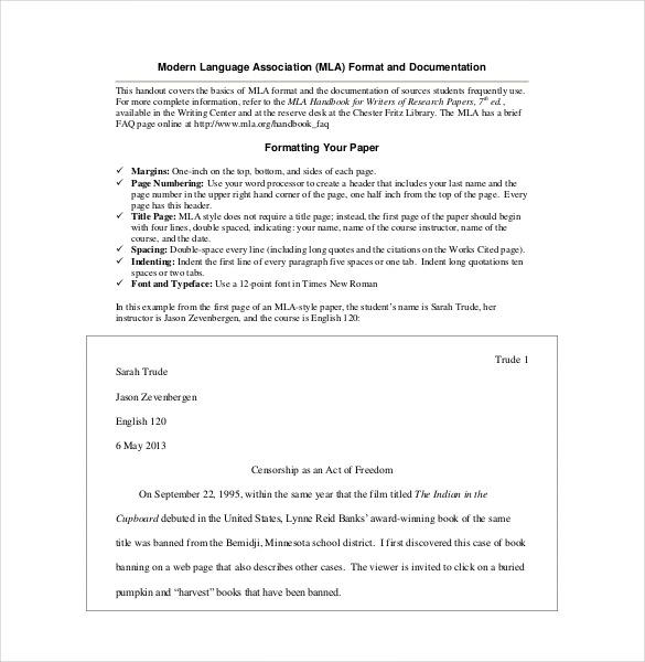 15+ MLA Cover Sheet Templates \u2013 Free Sample, Example, Format