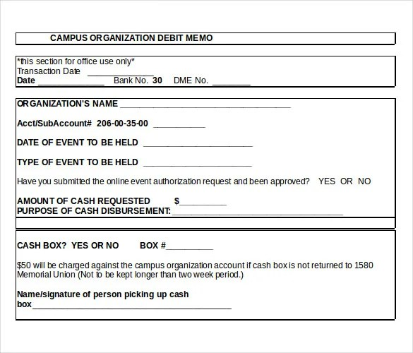 ... Sample Debit Memo Templates U2013 14+ Free Word, Excel, PDF Documents    Debit Memo ...  Cash Memo Format In Word