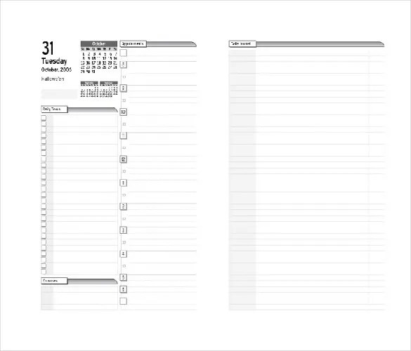 8+ Free Daily Planner Templates in Microsoft Word Download Free - day to day planner template free