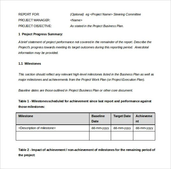 Management Report Template u2013 15+ Free Word, PDF, Documents - project report template word