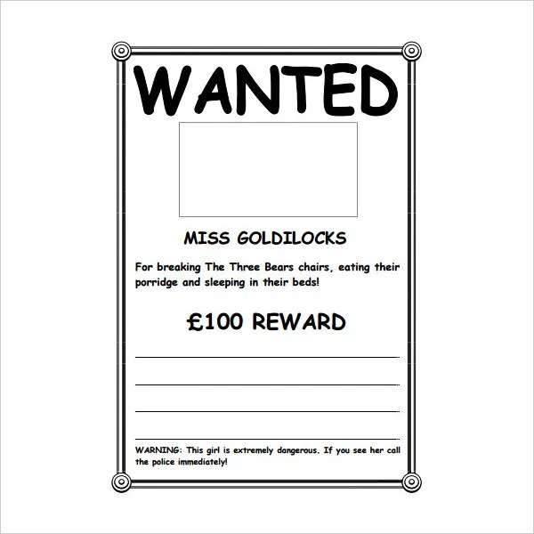 16+ Wanted Poster Templates - Free Sample, Example, Format Free