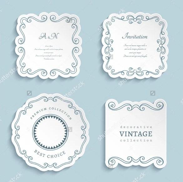 Wedding Label Template \u2013 30+ Free Sample, Example, Format Download