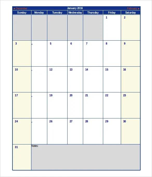 Excel Calendar Schedule Template \u2013 15+ Free Word, Excel, PDF Format
