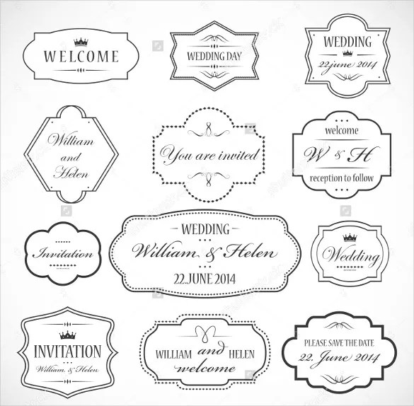 Wedding Label Template \u2013 30+ Free Sample, Example, Format Download