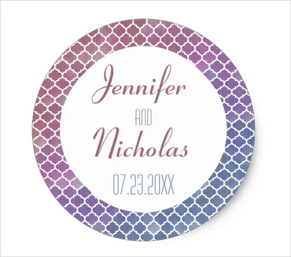 21+ Wedding Sticker Templates \u2013 JPG, Vector EPS Free  Premium