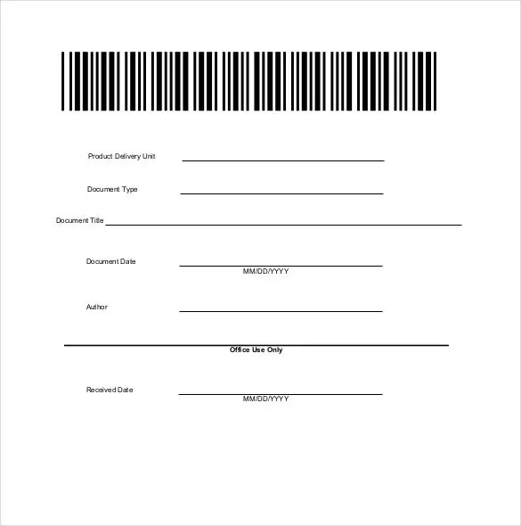 12+ Blank Cover Sheet Templates \u2013 Free Sample, Example, Format - Blank Document Free
