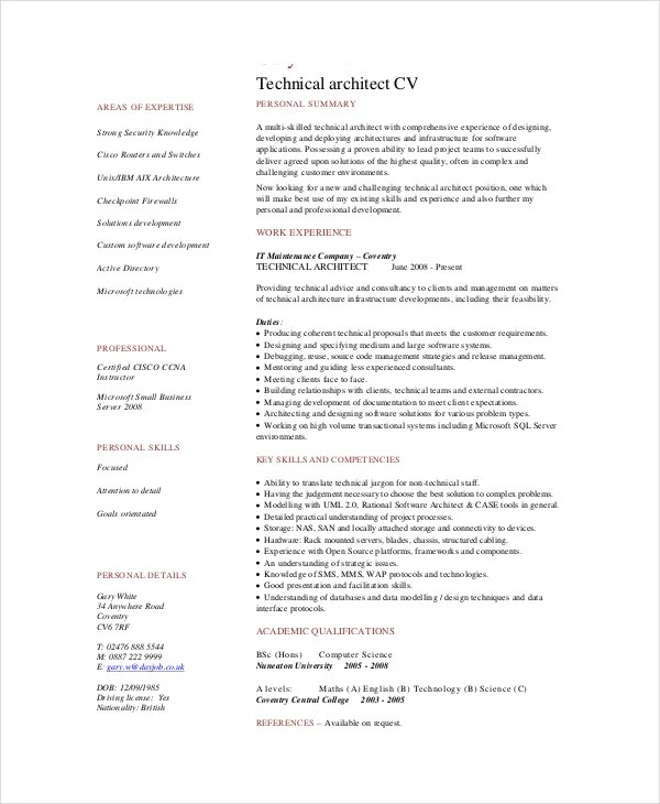 architecture resume sample - Romeolandinez - Resume Templates For Servers