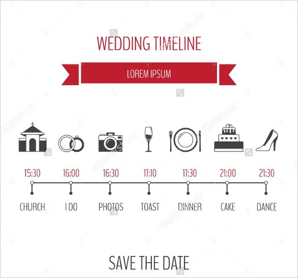 30+ Wedding Timeline Templates - PSD, AI, EPS, PDF, Word, Excel