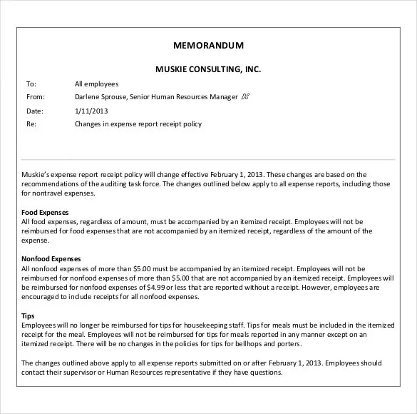 corporate memo template - Ukranagdiffusion - sample business memo