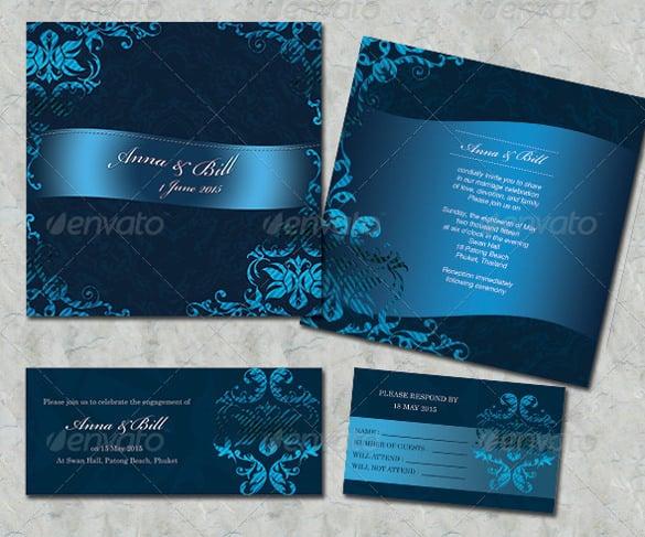 wedding card design template