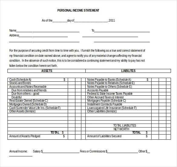 9+ Word Income Statement Templates Free Download Free  Premium - income statement template word