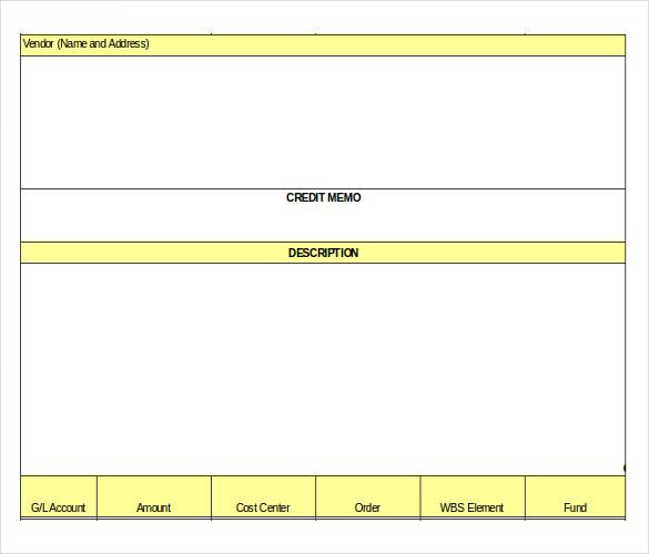 12+ Credit Memo Templates \u2013 Free Sample, Example, Format Download - credit memo sample