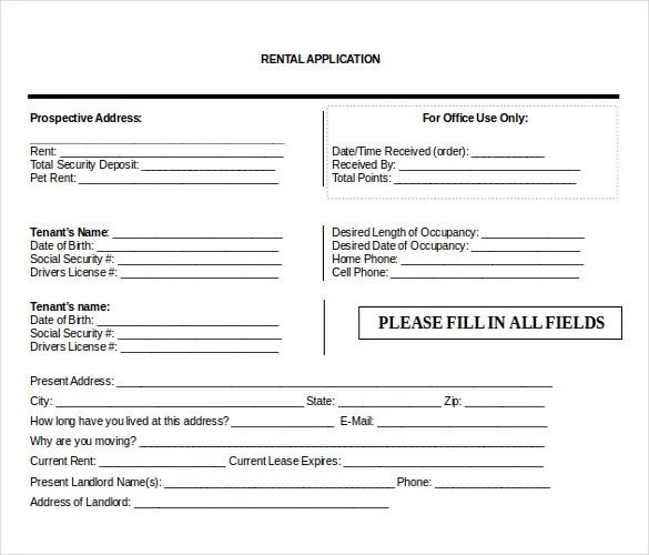 10+ Word Rental Application Templates Free Download Free  Premium - rental application form in word