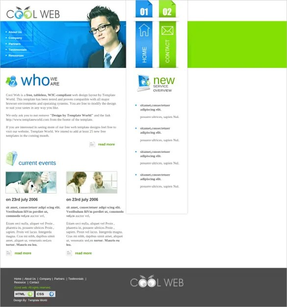 26+ Cool Website Themes  Templates Free  Premium Templates