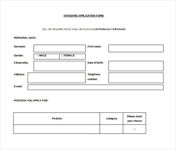 12+ Microsoft Word 2010 Application Templates Free Download Free - format of leave application form