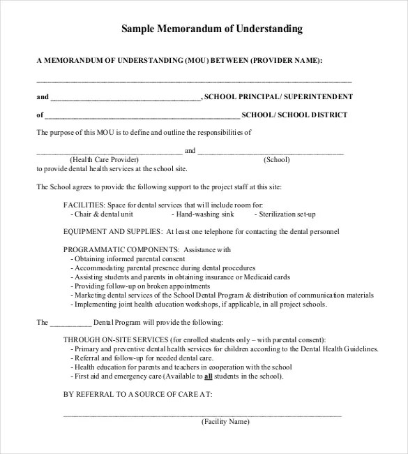 41+ Memorandum of understanding Templates - PDF, Google Docs Free