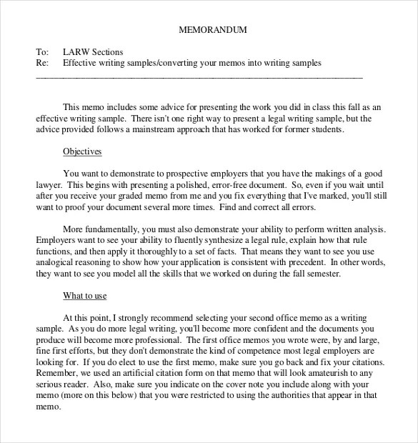 13+ Legal Memo Templates u2013 Free Sample, Example, Format Download - memo format template