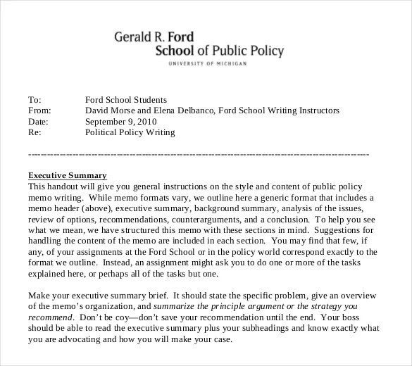 15+ Policy Memo Templates \u2013 Sample Word, Google Docs Format Download