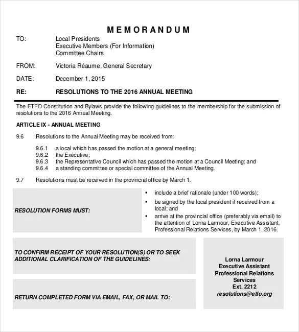 11+ Executive Memo Templates \u2013 Free Sample, Example, Format Download - memo layout examples