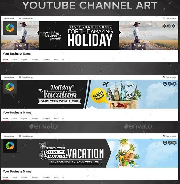 Youtube Channel Art Template - 47+ Free PSD, AI, Vector EPS Format