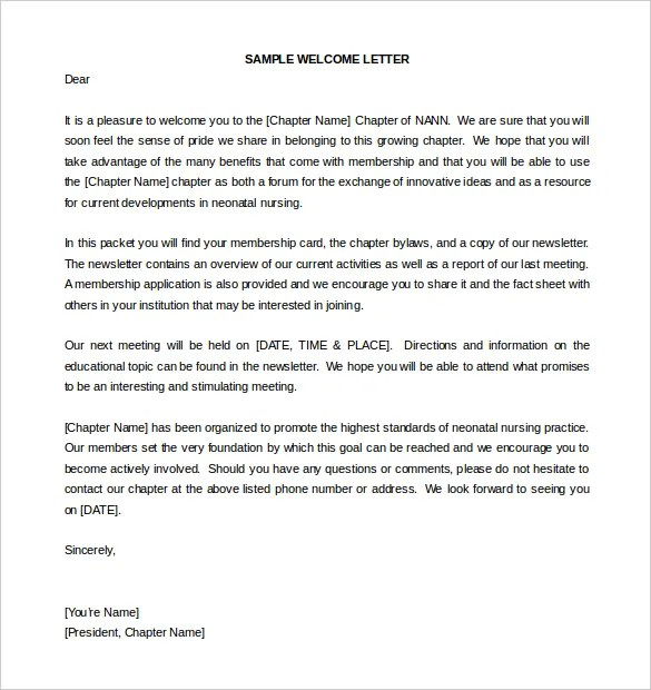23+ HR Welcome Letter Template - Free Sample, Example Format Free - sample welcome letter