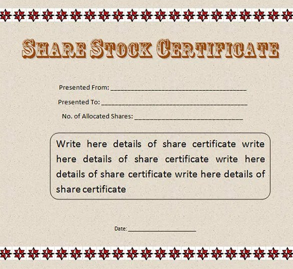 21+ Stock Certificate Templates - Free Sample, Example Format