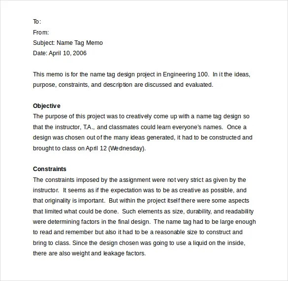 internal memos examples - Boatjeremyeaton - sample internal memo template
