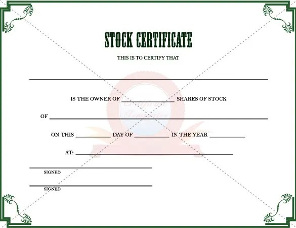 22+ Stock Certificate Templates - Word, PSD, AI, Publisher Free